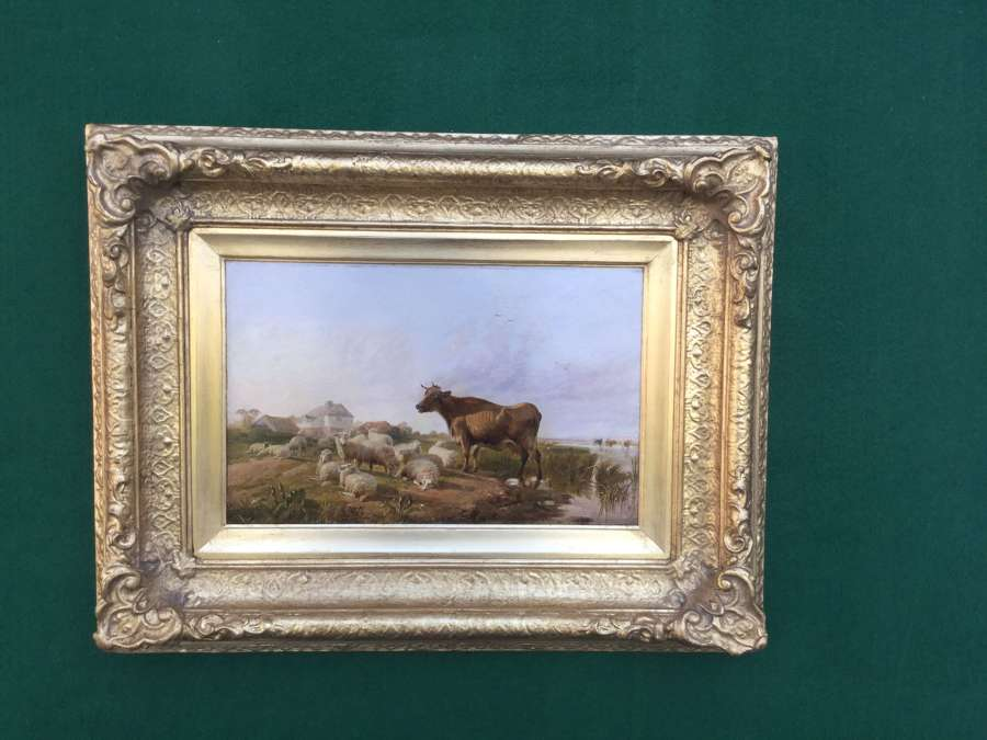 Thomas Sidney Cooper RA - Sheep & Cattle in a L/Scape