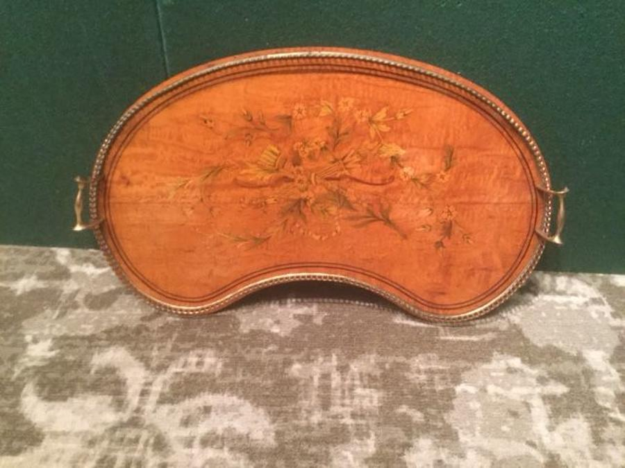 Late 19th.c. Sheraton Revival Satinwood Tray