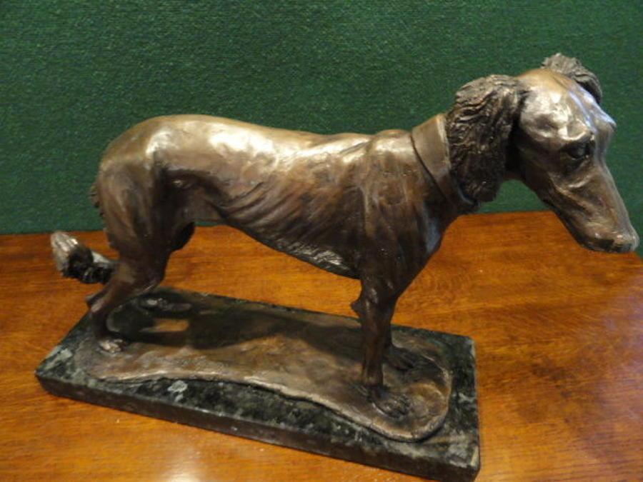 Ltd. Edition Bronze of a Saluki Dog