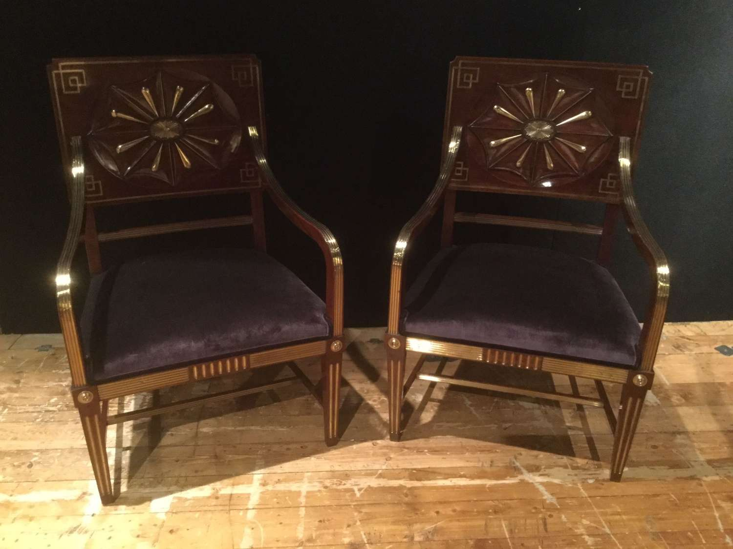 19th.c Russian Jacob Hall/ Library Chairs